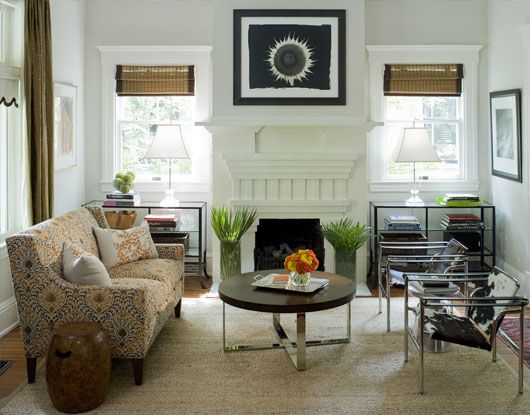 The Classic Craftsman Four Square Living Room With Windows Above Bookcases Flanking