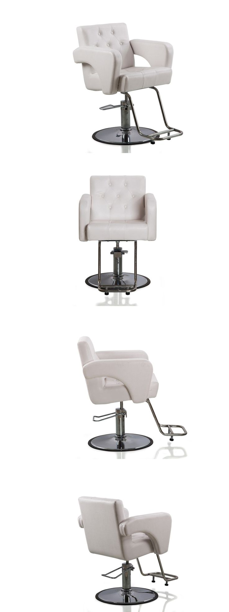 Wood swivel desk chair laquered finish warms amp padded seat ebay - Stylist Stations And Furniture Hydraulic Styling Barber Chair Hair Spa Beauty Salon Equipment