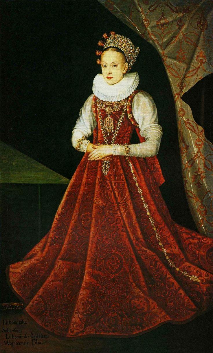 Portrait of Krystyna Lubomirska (d. 1645) by Anonymous from Kraków, ca. 1600 (PD-art/old), Muzeum Narodowe w Warszawie (MNW)