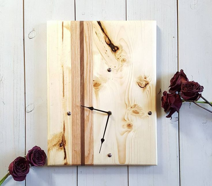 Executive Large Wall Clock -  Wood Art - Industrial Clock - Unique Clock - Oversize Wall Clock - Wood Clock - Contemporary Clock - Modern by UrbanAlloy on Etsy