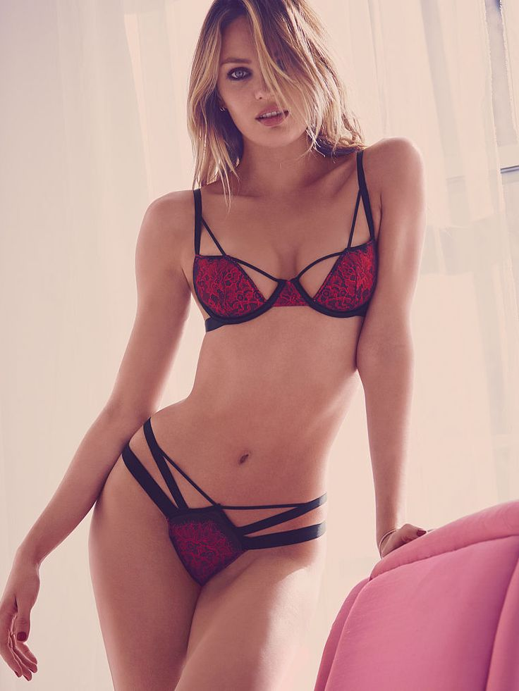 Valentine's Day just got sexier in bold straps & cut-out sides. | Victoria's Secret Strappy Cutout Demi Bra