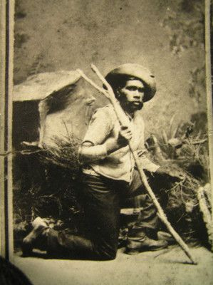 Tracker Johnny; 1880; PM1289c. One of 5 trackers who helped track Ned Kelly circa 1880