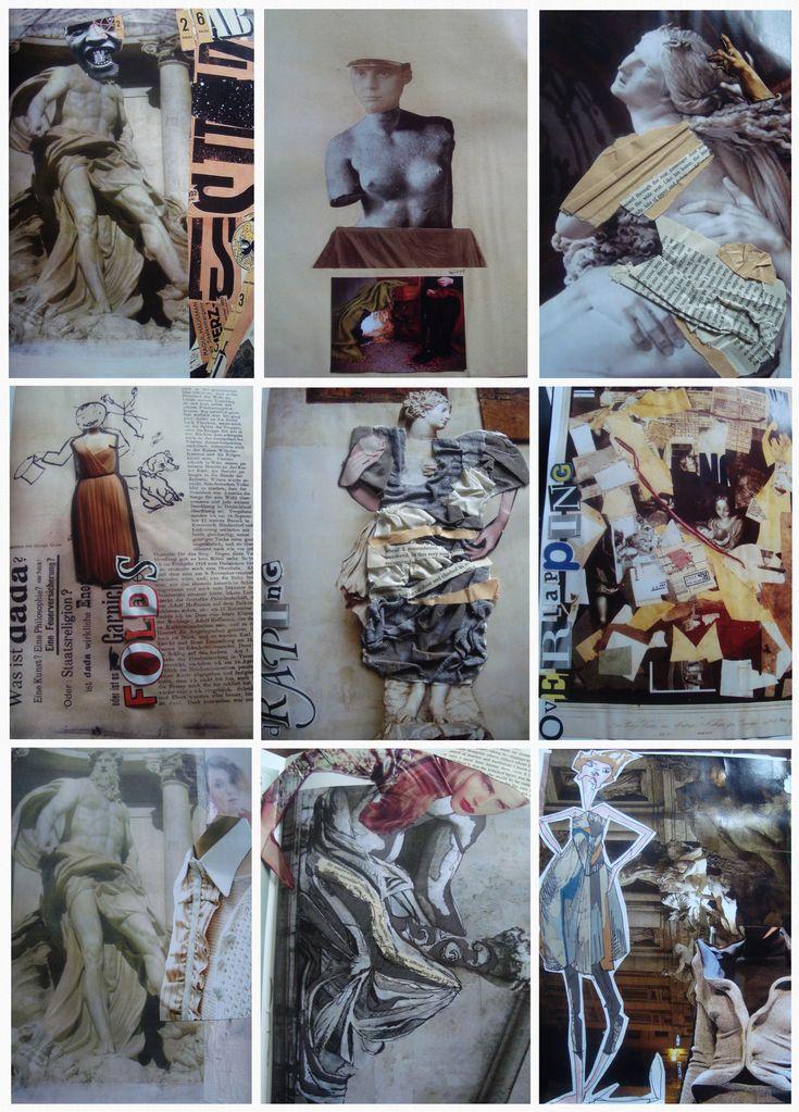 Dada Sketchbook,Fashion Sketchbooks, Artist Study with thanks to Laura April Jayne  for Art School Students, CAPI ::: Create Art Portfolio Ideas at milliande.com Art School Portfolio, Fashion, Clothes, Design, Art, Figurative, Figure, People