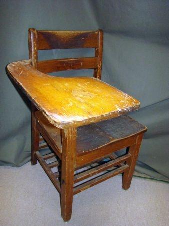 Antique Wooden School Desk Vintage School Desk School