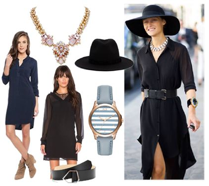 Black Shirt Dress for a perfect Weekend Style  by Josefinaelizalde on Set That -