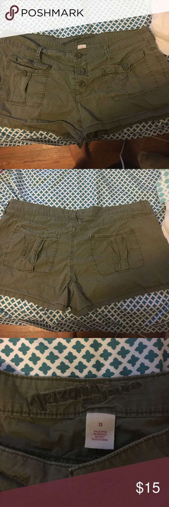 Army green shorts JcPenney army green shorts. 3 button up. jcpenney Shorts Jean Shorts