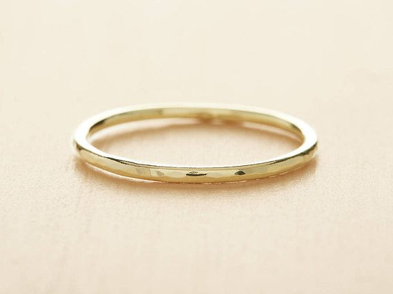 A Beautiful Solid 18ct Yellow Gold Wedding Band With A Softly Beaten Texture For An Organic Fini Yellow Gold Wedding Band Gold Wedding Band Skinny Wedding Band