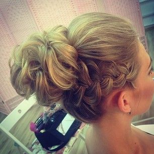 possible cheer hair, I think it would be cute with a bow