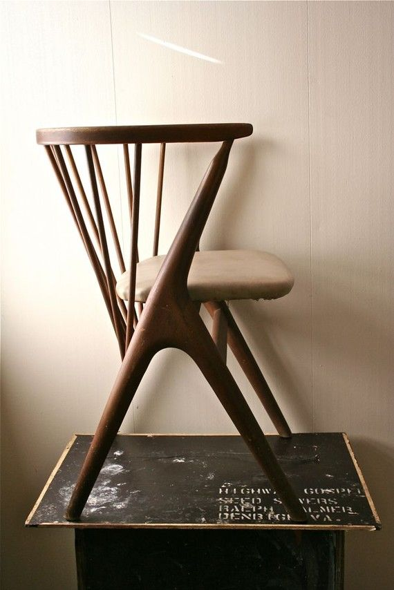 Vintage Wooden Danish Modern Child's #Chair - Sibast Mobler