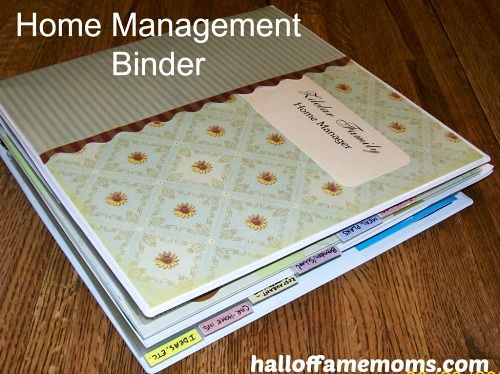 My Home Management Binder - Hall of Fame Moms