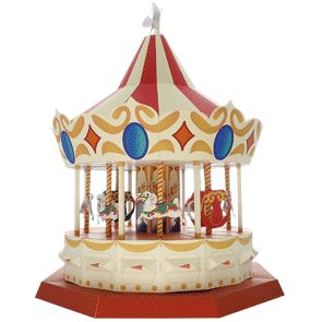 Carousel - Toys - Paper Craft - Canon CREATIVE PARK - will need Mum and Dads help to make this one.