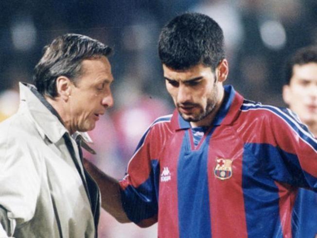 Johan Cruyff, maestro y mentor de Pep Guardiola