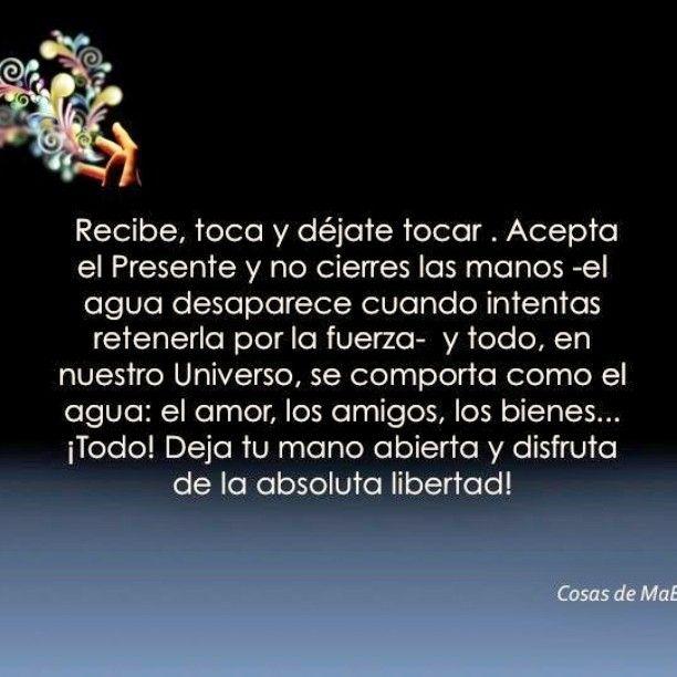 Deja tu #mano #abierta. #Ama en #libertad