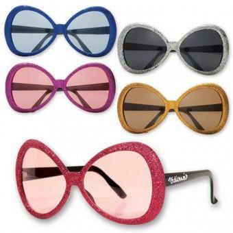 Spread joyous spirits all around.  #glamour #glitter #novelty #sunglasses
