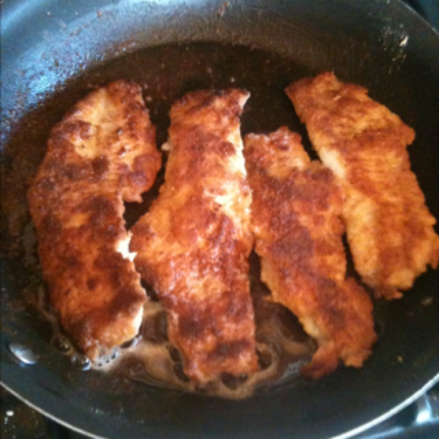Fresh walleye fillets dipped in egg and then shore lunch for Walleye fish recipes