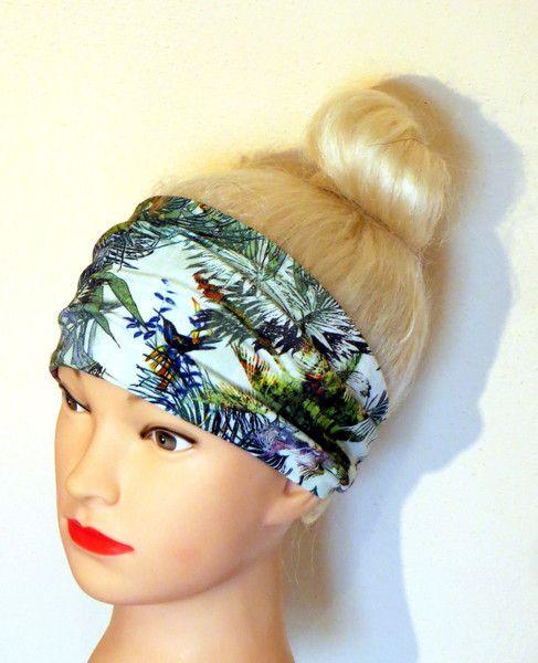 Bandana+Fascia+per+capelli+Stile+Tropicale+di+Maiblume+su+DaWanda.com