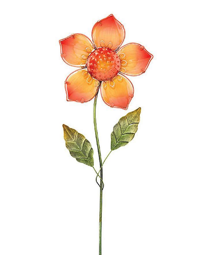Look What I Found On Orange U0026 Yellow Flower Garden Stake By Regal Art U0026 Gift