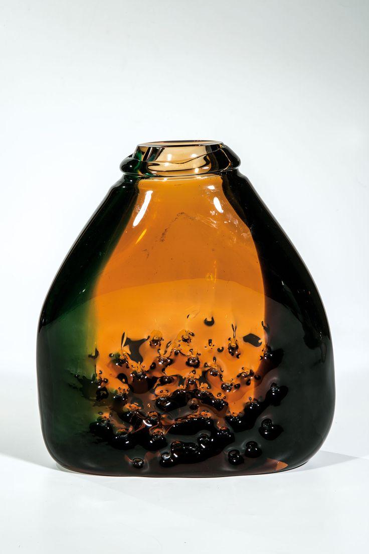 Jirina Zertova, glass vase, 1969, H: 26,0 cm, glassworks Skrdlovice, Czechoslovakia