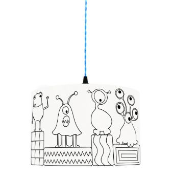 Monsters World Colour Me Lampshade
