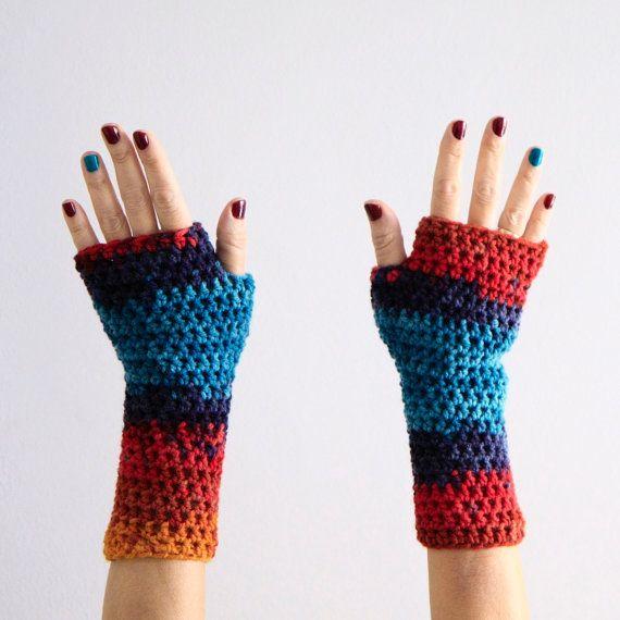 Crochet gloves fingerless gloves fingerless mittens by polixeni19