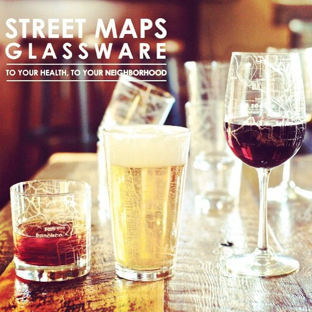 "Our new product theme this month had turned out to be ""love your home."" These glasses are etched with the street maps from cities like Toronto, vancouver, Montreal, NYC, and Chicago. Cheers to finding unique new things! #iloveorangefish #toronto #montreal #vancouver"