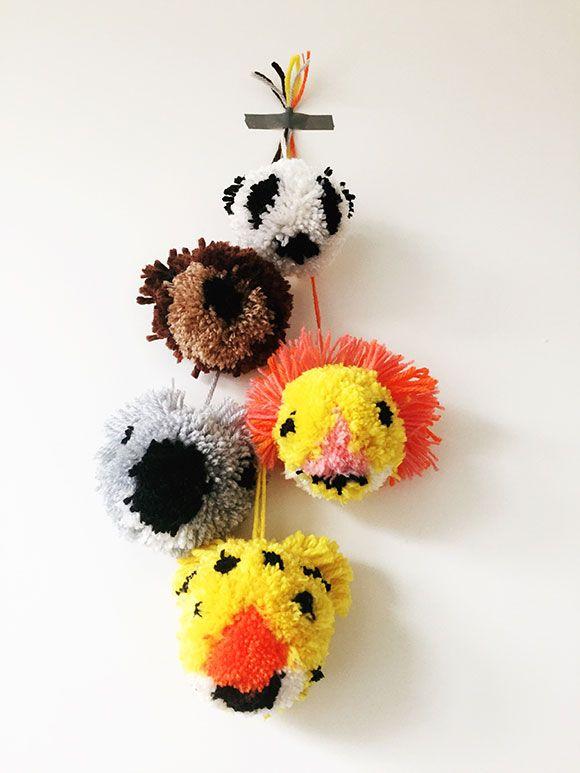 DIY: Pom pom dieren