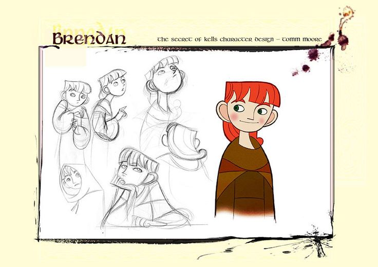 Living Lines Library: The Secret of Kells (2009) - Production Design: Early Character Design
