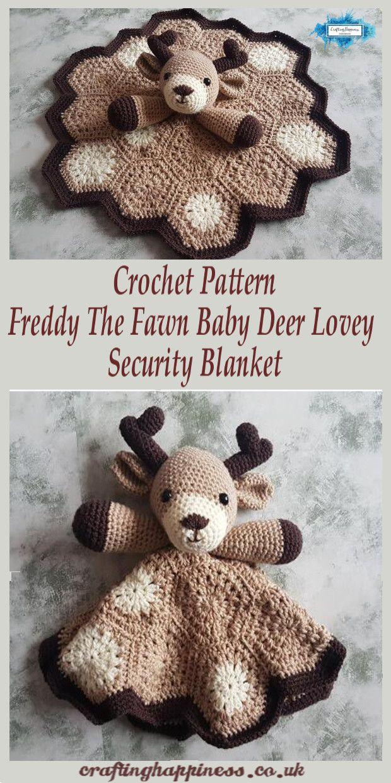 Teste padrão do Crochet: Freddy o cervo do bebê Cobertor De Manta