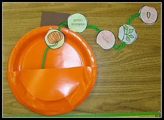First grade blog with great pics and ideas and freebies, see ideas for pumpkin unit