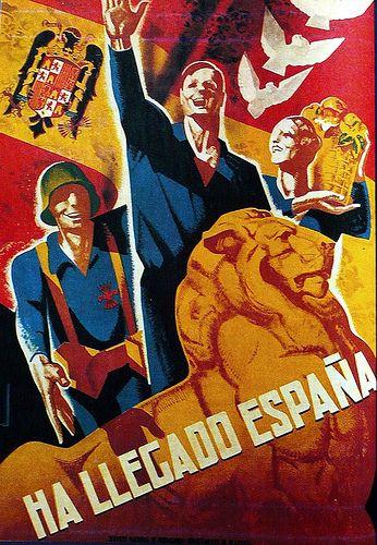 Ha llegado España :: posters from the spanish civil war / a set by ed ed #Spain #war #poster