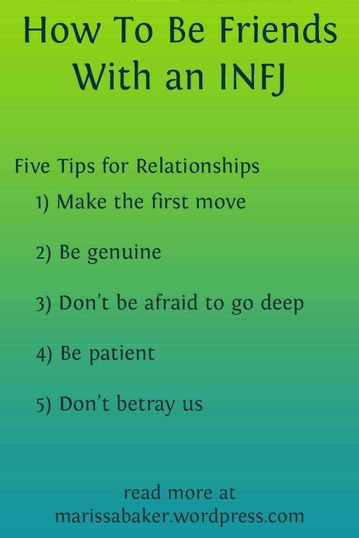 Dating infj tips