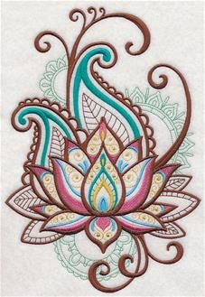 Machine Embroidery Designs at Embroidery Library! - Lotus