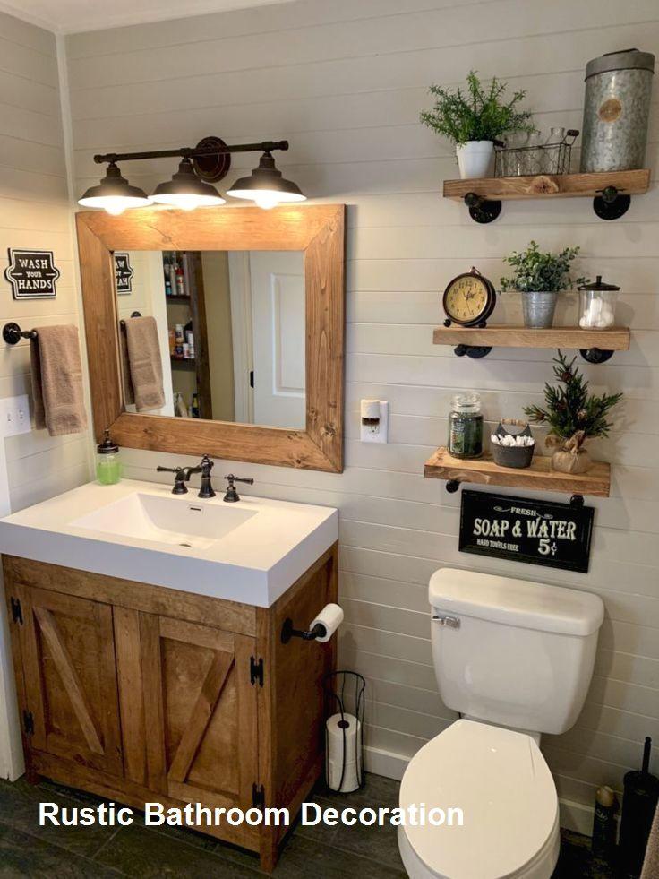 20 Rustic Bathroom Designs 2 In 2020 Small Farmhouse Bathroom