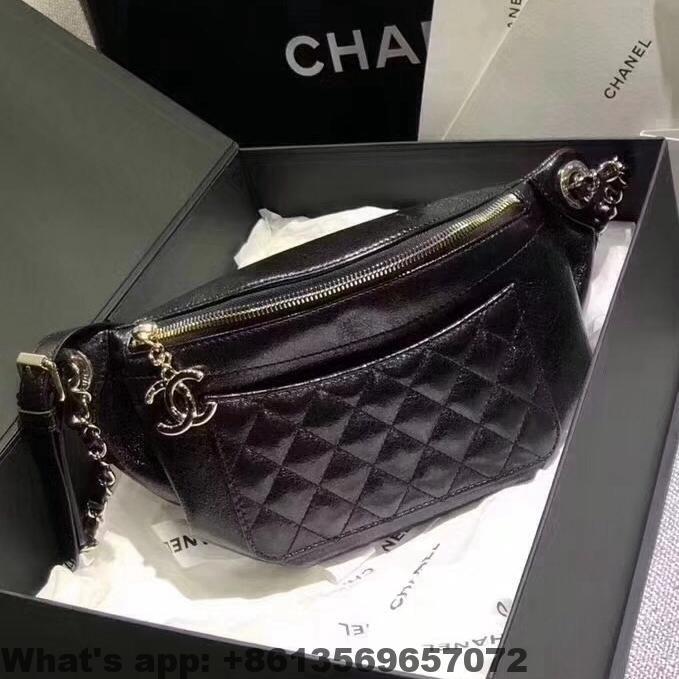 Chanel Crumpled Calfskin Bi Quilted Waist Bag A57823 2018 Chanel Bags Classic Flap Bag