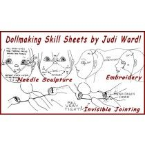 Niewidoczne łączenie, Haft Po nadzieniem, Dostosowanie Wzory dla Needle Rzeźby i wskazówki ogólne Dollmaking i pomoc!