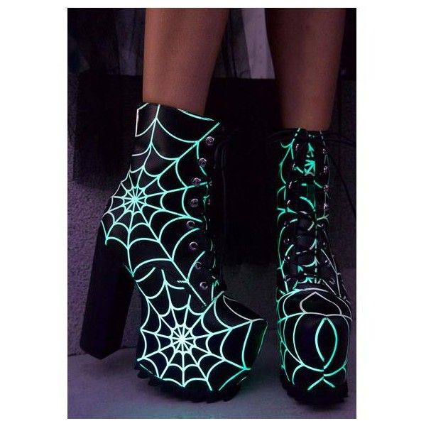Skyline Platform Boots Dolls ❤ liked on Polyvore featuring shoes, boots, gothic lolita shoes, goth punk shoes, gothic punk shoes, punk platform shoes and platform shoes