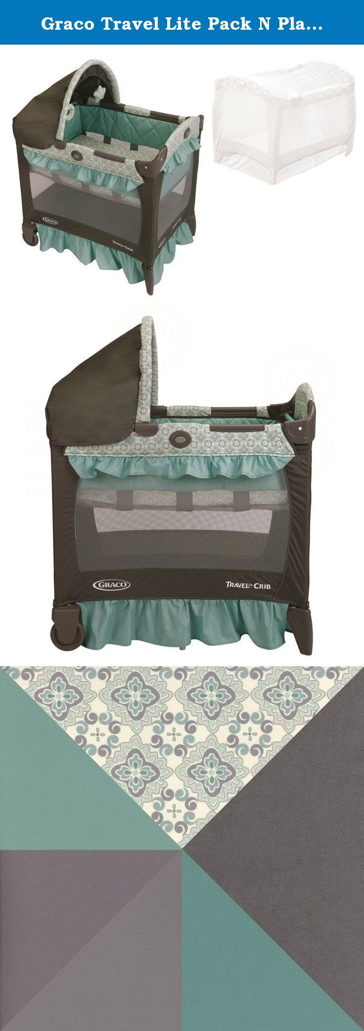 Graco Travel Lite Pack N Play Playard with Playpen Netting, Winslet. Graco Travel Lite Pack N Play Playard is THE ultra-comfy travel crib that will keep your little one well rested at home or away. It features a removable, full bassinet with quilted side panels to pamper your little sleeper. The canopy with soft toys soothes and shields baby from light. This travel lite playard is designed to be 20% smaller than traditional playards, so it will fit easily in your bedroom. And it features…