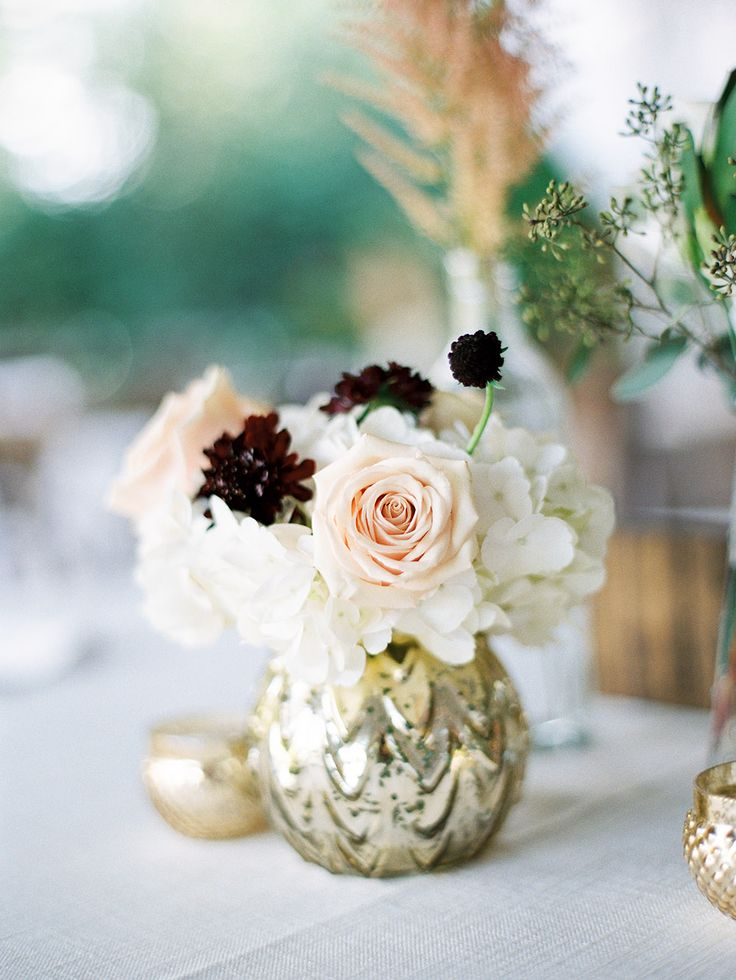 nancy ray; erin mclean events; southern wedding; north carolina wedding; durham wedding; outdoor ceremony; jewish christian ceremony; tented reception; fall wedding; table florals; peach roses; chocolate cosmos;