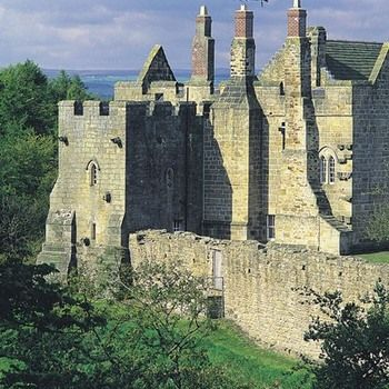 Aydon Castle, Northumberland, England. One of the finest and unaltered manor houses in the country, built in the 13th century