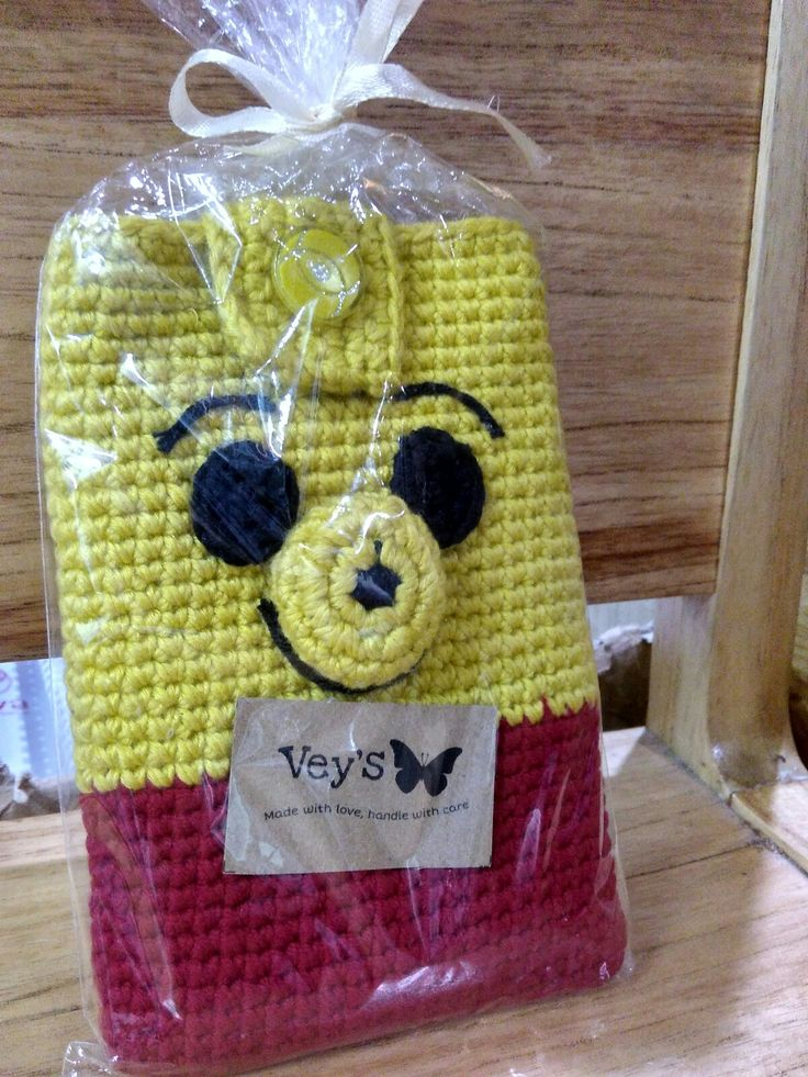 pooh pouch crochet
