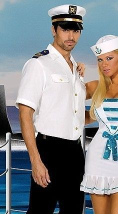 Sailor Uniform Seaman Shirt Captain Mens Costume