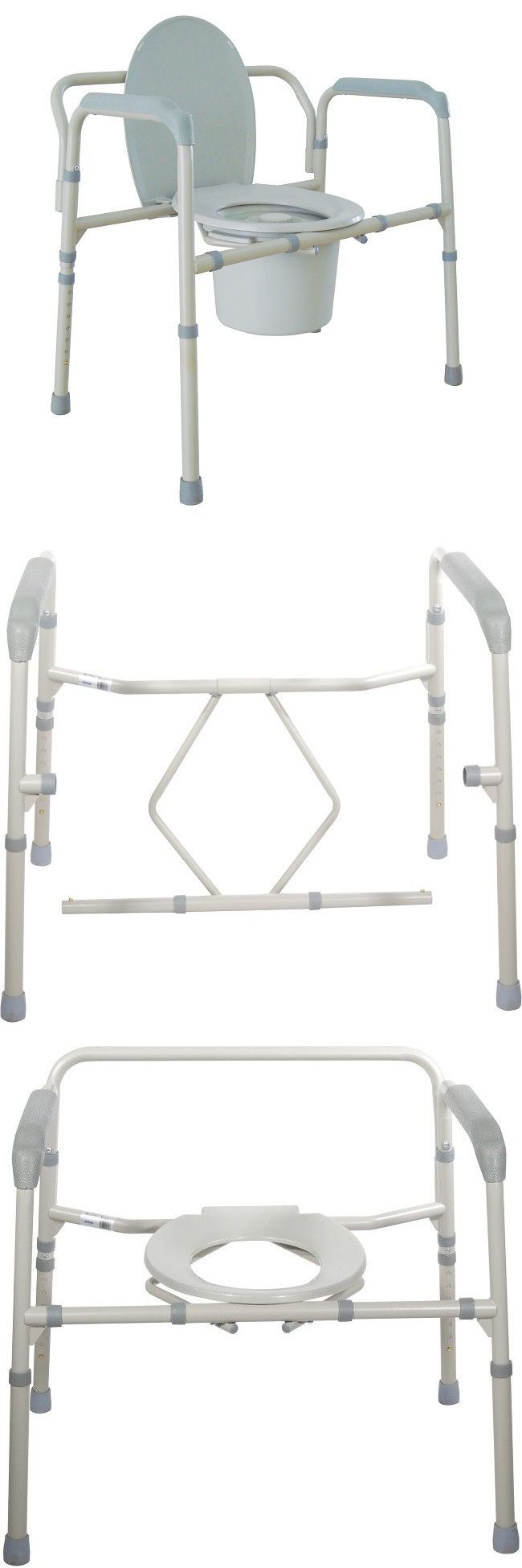 Portable commode folding bedside handicap adult toilet potty chair - Toilet Frames And Commodes Bedside Toilet Seat Medical Commode Bariatric Chair Folding Portable Adult Potty