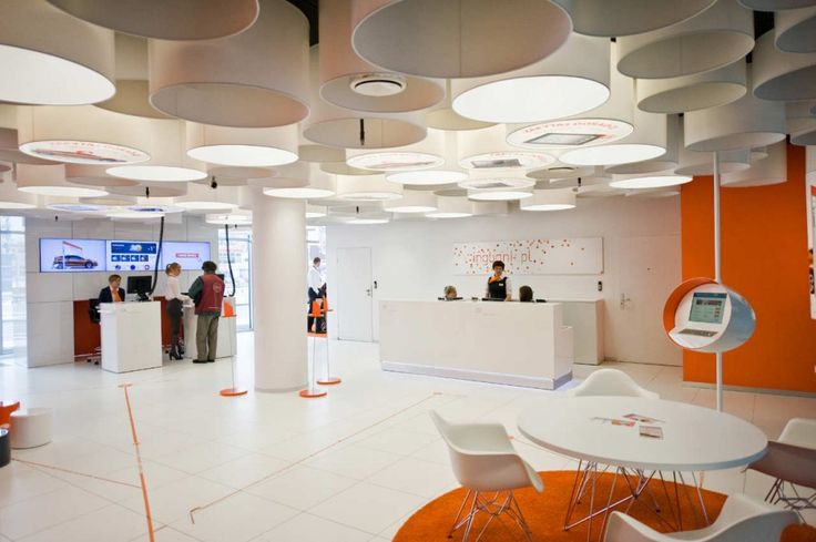 New Interior Standard For ING Bank Outlets / Medusa Industry. Orange and white look great together or orange & gray