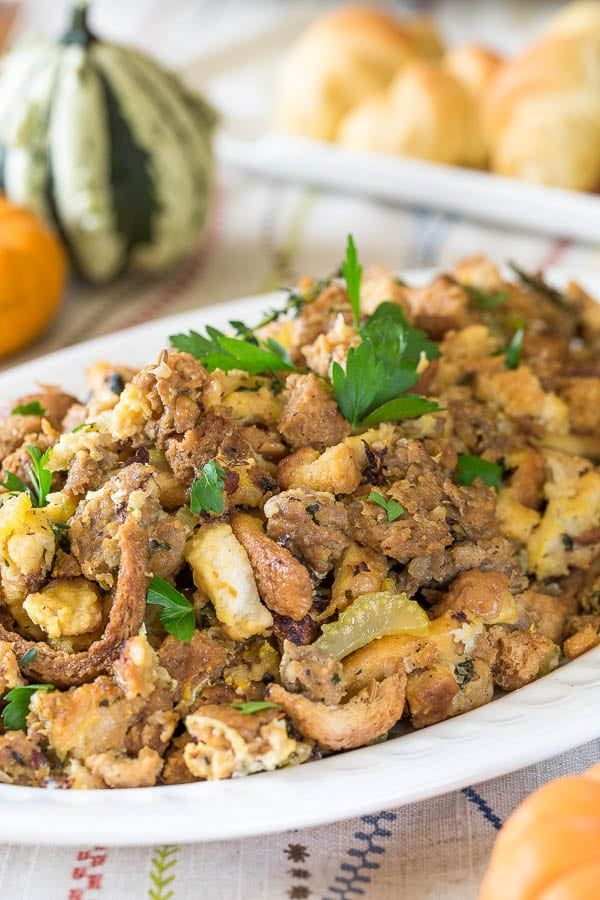 Moist and flavorful Instant Pot sausage stuffing under 45 minutes and with minimum effort!