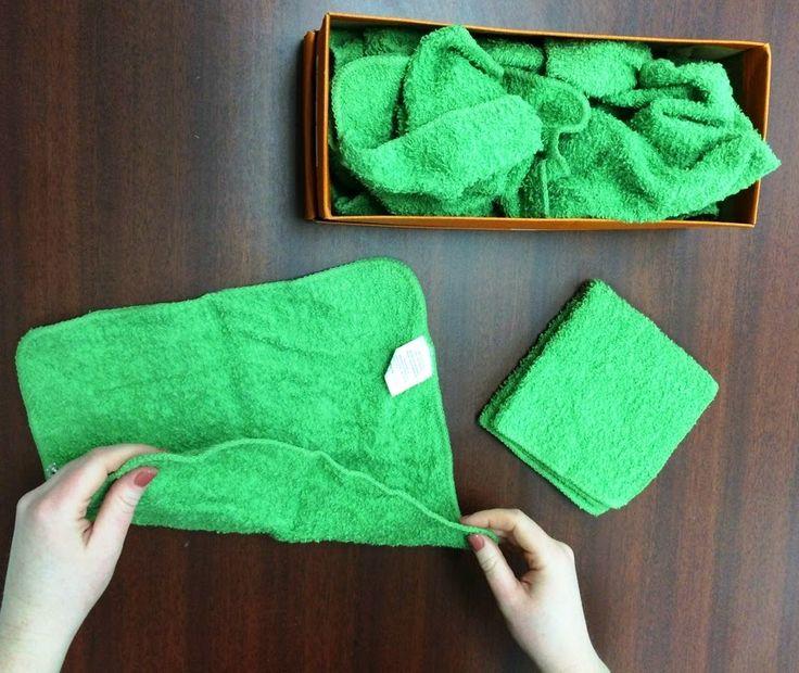 Vocational Tasks (Training Activities) : Folding Washcloths
