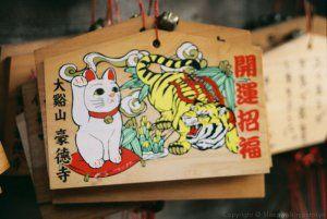 Maneki neko (招き猫) in Gotokuji (豪徳寺) #japan #tokyo #shrine #manekineko