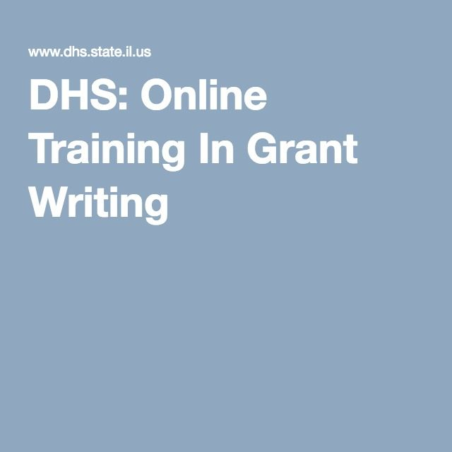 online grant writing courses