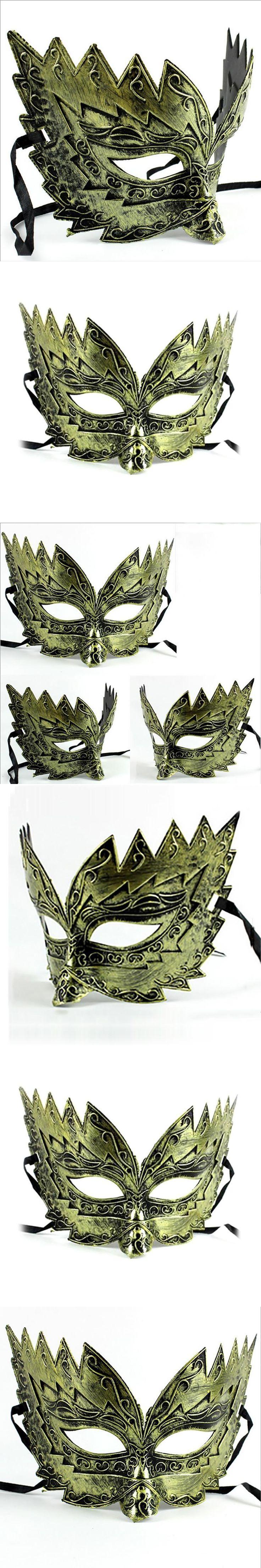1pcs Halloween make-up dance mask Hip-hop painted mask Party retro half face mask A20
