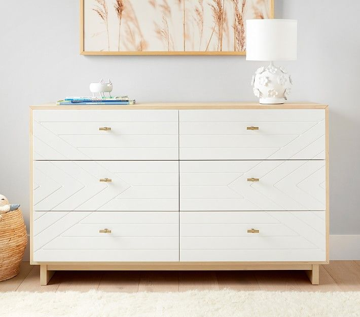 Cora Extra Wide Dresser White Natural In Home In 2021 Wide Dresser Kids Furniture Dresser Extra Wide Dresser White and natural wood dresser
