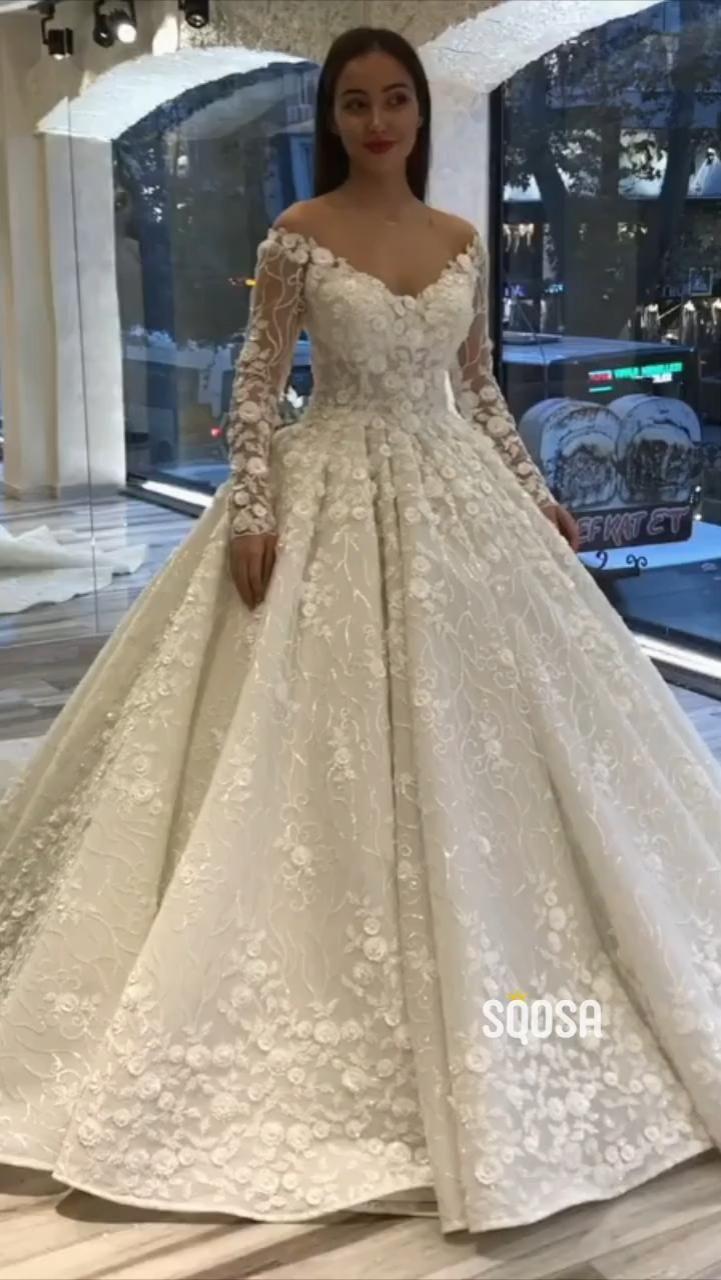 20 Wedding Dresses Casual Wedding Dresses Flower Applique Dress ...